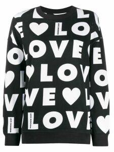 Love Moschino all over logo print sweatshirt - Black