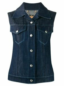 Chloé sleeveless denim jacket - Blue