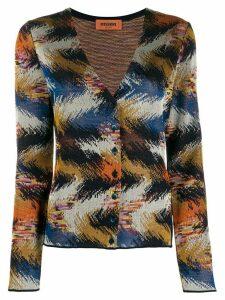 Missoni patterned knit cardigan - Blue