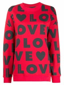 Love Moschino all over logo print sweatshirt - Red