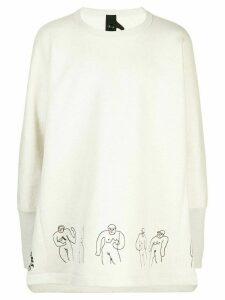 Bernhard Willhelm oversized Boy sweatshirt - White