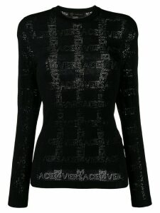 Versace knitted logo top - Black