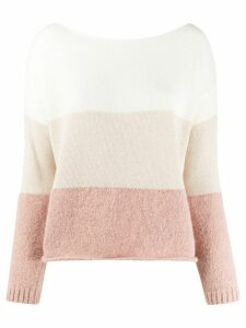 Semicouture gradient effect jumper - NEUTRALS