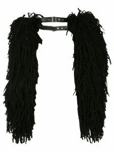 Comme Des Garçons fringed sleeve-detail cardigan - Black