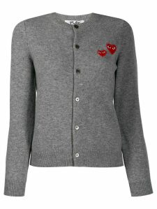 Comme Des Garçons Play embroidered cardigan - Grey
