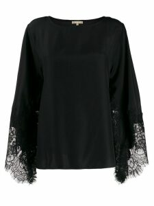 Gold Hawk lace sleeve blouse - Black