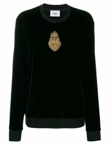 Dondup embellished long-sleeve top - Black