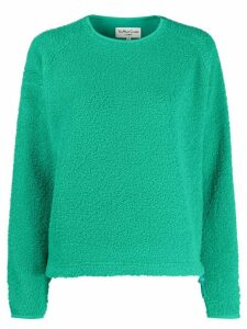 YMC oversized faux-shearling sweater - Green