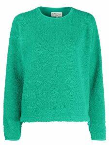 YMC oversized faux-shearling sweater - Green