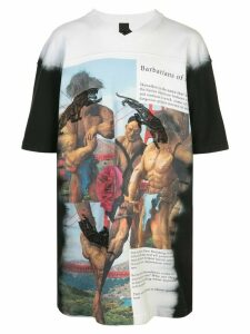 Bernhard Willhelm Barbarians-print oversized T-shirt - Black
