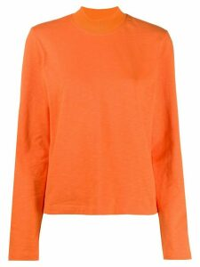 YMC roll-neck jersey top - ORANGE