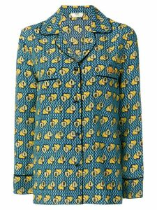 Fendi heart print long-sleeve shirt - Blue