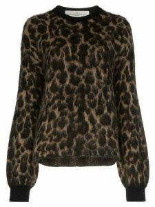 Golden Goose leopard pattern jumper - Brown