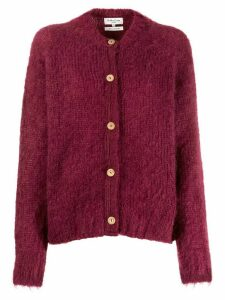 YMC wooden-button cardigan - Red