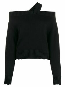 RtA Beckett cropped sweater - Black