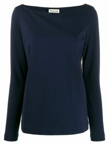 Semicouture boat neck jumper - Blue