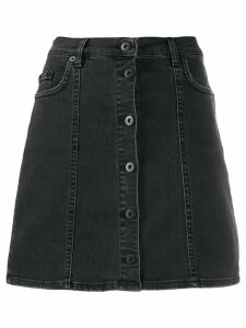 McQ Alexander McQueen short A-line denim skirt - Black