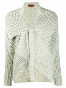 Missoni ribbed knit tied cardigan - NEUTRALS