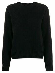 YMC crew-neck knit sweater - Black