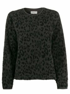YMC animal pattern shearling sweater - Grey