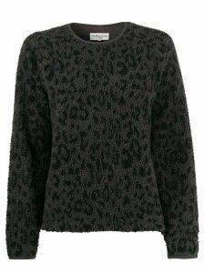 YMC animal pattern shearling sweater - Grey