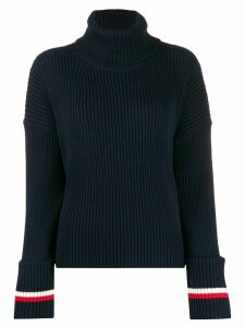 Tommy Hilfiger stripe roll-neck sweater - Blue