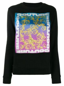 Versace Jeans Couture graphic print sweatshirt - Black