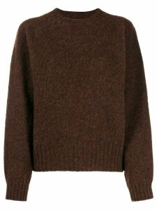 YMC crew-neck knit sweater - Brown