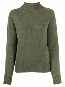 YMC rollneck knit sweater - Green