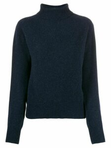 YMC rollneck knit sweater - Blue