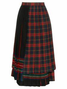 Rentrayage pleated tartan skirt - Red