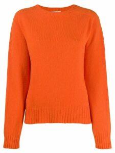 YMC crew-neck knit sweater - ORANGE