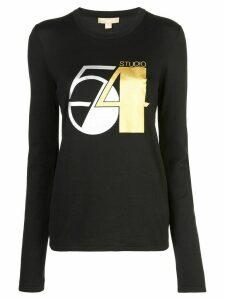Michael Kors Studio 54 long-sleeved T-shirt - Black