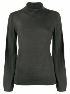 Fabiana Filippi knitted mock neck top - Grey