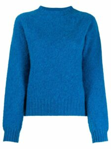 YMC crew-neck knit sweater - Blue