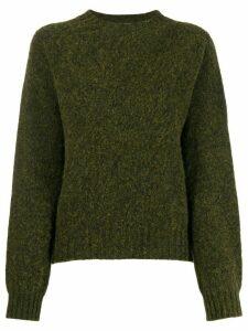 YMC crew-neck knit sweater - Green