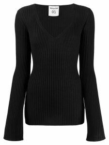 Semicouture V-neck jumper - Black