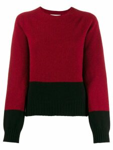 YMC color-block knit sweater - Red