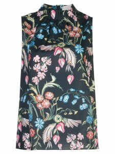 Peter Pilotto high-neck floral-print top - Black