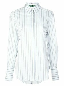Jed striped long-sleeve shirt - White