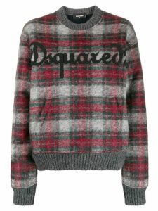 Dsquared2 tartan boxy jumper - Grey