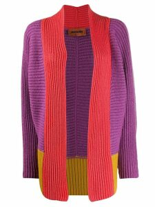 Missoni colour-block knitted cardigan - PURPLE