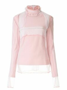 Y/Project roll neck sheer sweatshirt - PINK