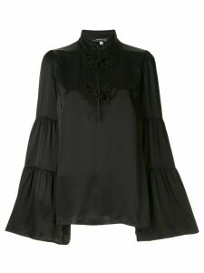 Andrew Gn embroidered flared blouse - Black