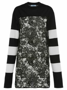 Prada lace panel sweatshirt - Black