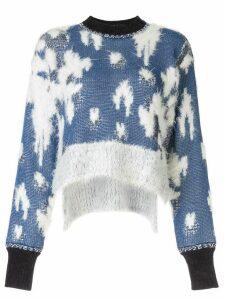 Mame Kurogouchi patchwork knit jumper - Blue