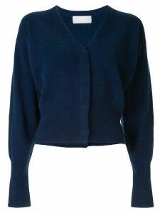 Mame Kurogouchi V-neck long sleeve cardigan - Blue