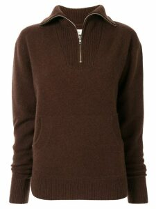 G.V.G.V. half zip knitted sweatshirt - Brown