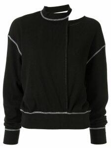 G.V.G.V. cut-out knitted top - Black