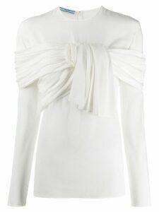 Prada knot detail blouse - White